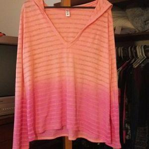 Victoria's Secret light weight ombre hoodie